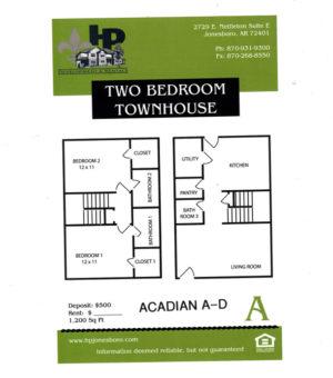 Acadian Village Floor Plan